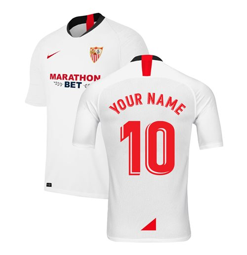 2019-2020 Sevilla Home Nike Football Shirt (Your Name)