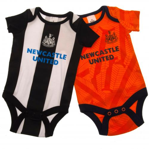 Newcastle United F.C. 2 Pack Bodysuit 3/6 mths OR