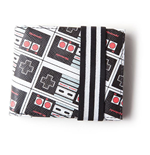 NINTENDO NES Controllers All-Over Print Bi-fold Wallet, Male, Multi-colour