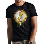 The Flash - Splatter Logo - Unisex T-Shirt Black