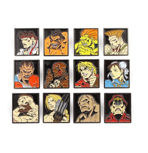 Street Fighter 12-Pack Pin Badges Characters