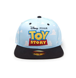 DISNEY Toy Story Embroidered Logo with All-over Clouds Snapback Baseball Cap, Unisex, Blue/Black