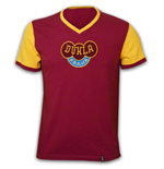 Dukla Prague 1960\'s Short Sleeve Retro Shirt 100% cotton