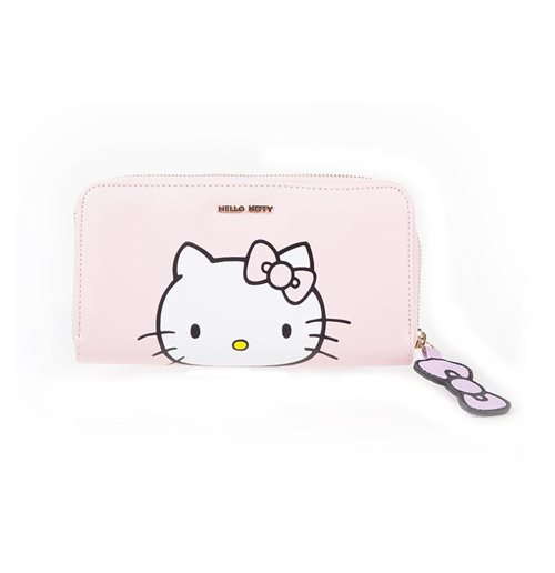 HELLO KITTY Ladies Zip Around Purse, Female, Pink/Purple