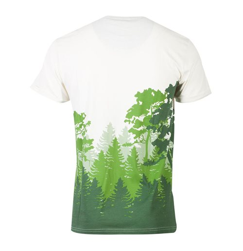 NINTENDO Legend of Zelda Hyrule Forrest Sublimation T-Shirt, Male, Medium, Multi-colour