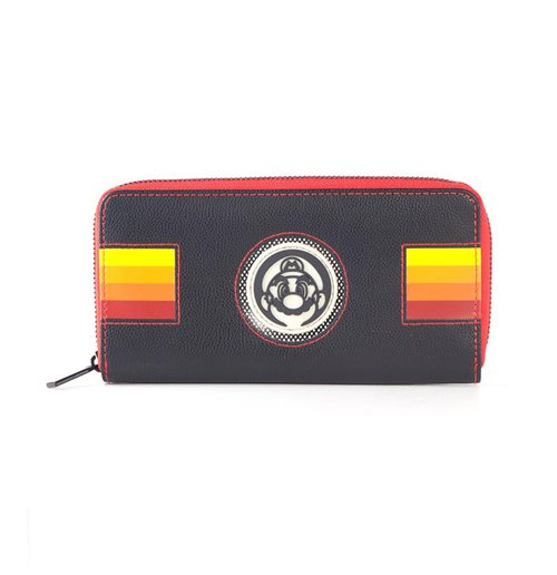 NINTENDO Super Mario Bros. Retro Mario Patch Zip-around Purse Wallet, Female, Multi-colour