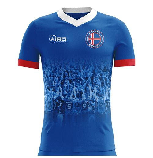 2018-2019 Iceland Supporters Home Concept Football Shirt - Kids (Long Sleeve)
