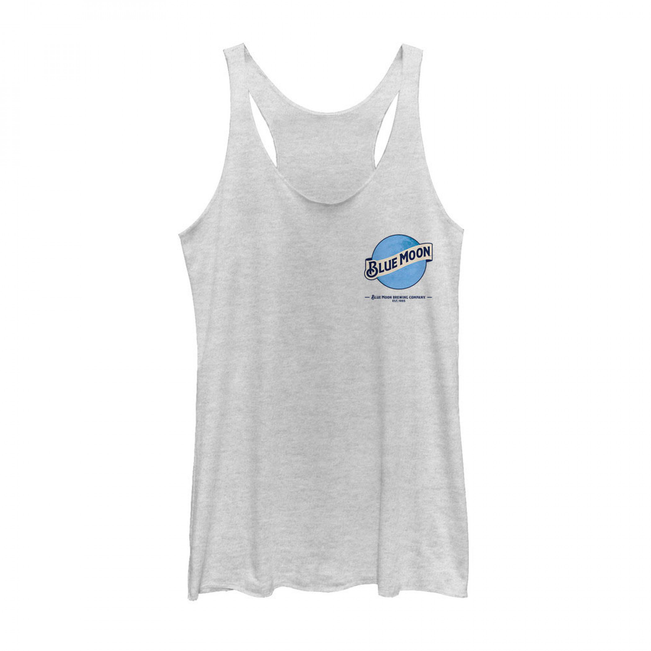 Blue Moon Beer Small Logo Women's White Tank Top