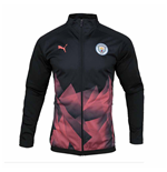2019-2020 Manchester City Puma INTL Stadium Jacket (Black)