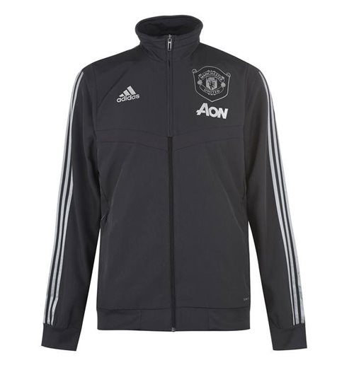 2019-2020 Man Utd Adidas EU Presentation Jacket (Carbon)