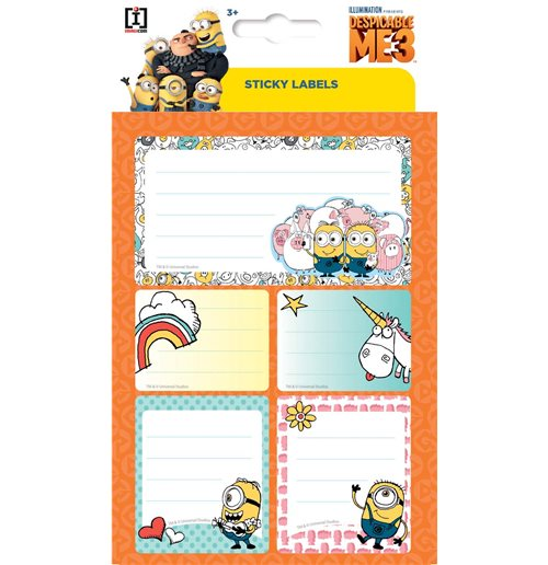 Despicable me - Minions Label Stickers