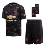 2019-2020 Man Utd Adidas Third Little Boys Mini Kit