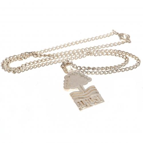 Nottingham Forest F.C. Silver Plated Pendant & Chain XL