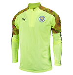 2019-2020 Manchester City Puma Half Zip Training Top (Yellow)