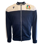2019-2020 Italy Macron Rugby Full Zip Anthem Jacket (Navy)
