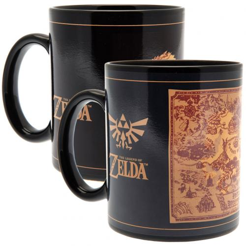 The Legend Of Zelda Heat Changing Mug Map