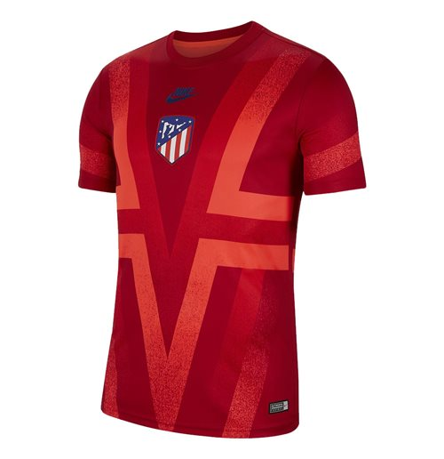 2019-2020 Atletico Madrid Nike CL Pre-Match Dry Training Shirt (Red)