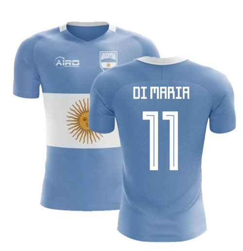 2018-2019 Argentina Flag Concept Football Shirt (Di Maria 11)