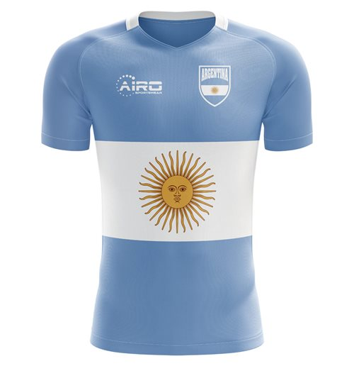 2018-2019 Argentina Flag Concept Football Shirt