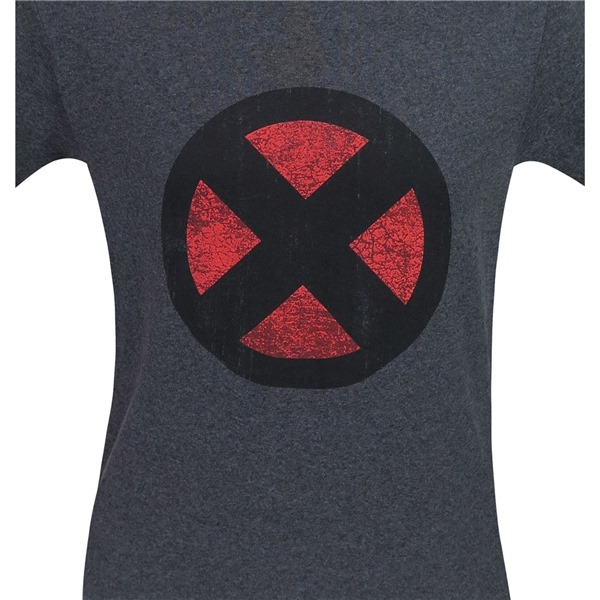 X-Men Distressed Symbol Grey T-Shirt