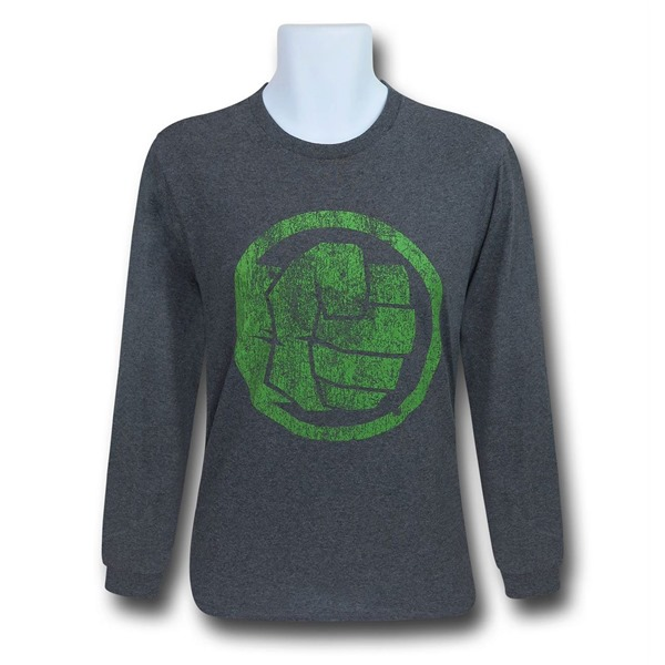 Hulk Fist Bump Men's Long Sleeve T-Shirt
