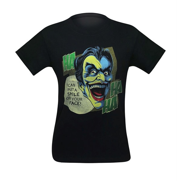 Joker Can I Put a Smile on Your Face Men's T-Shirt