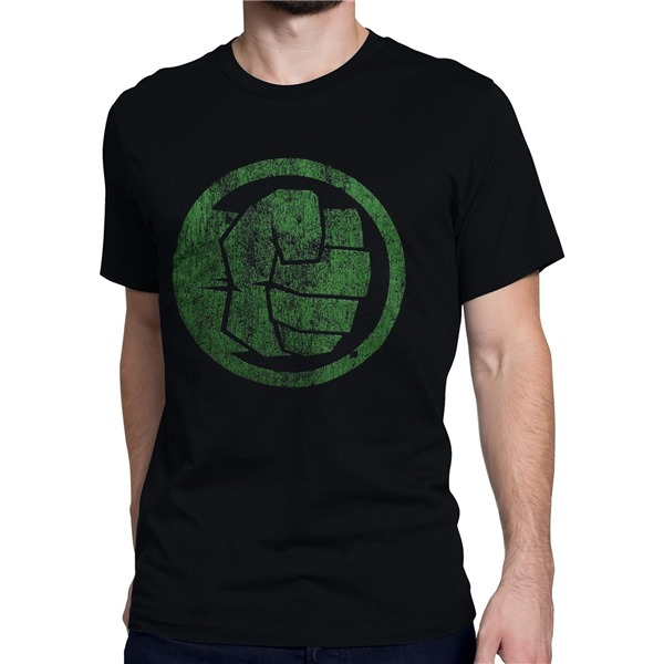 Hulk Fist Bump on Black Men's T-Shirt
