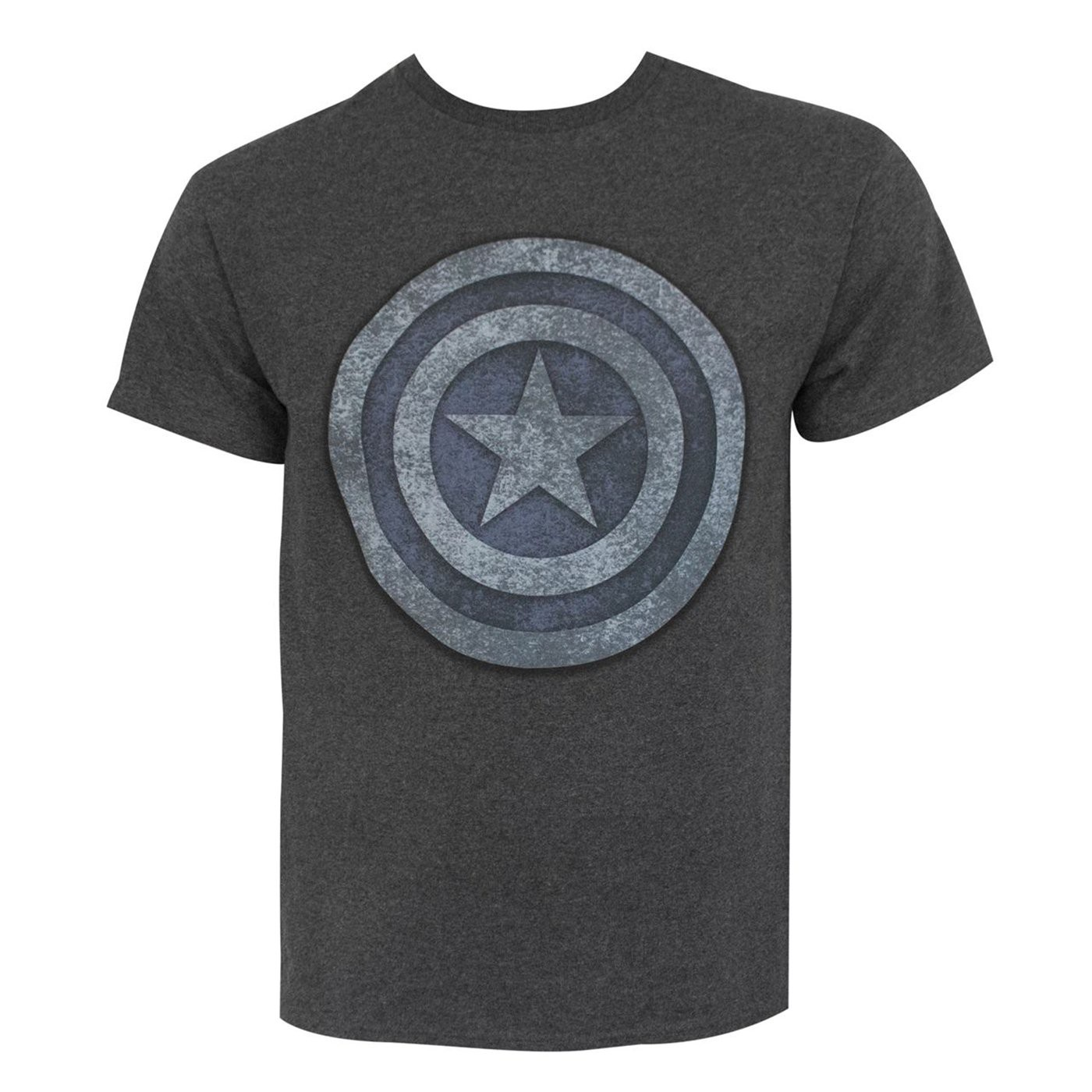 Captain America Blue  and  Silver Shield Men's T-Shirt
