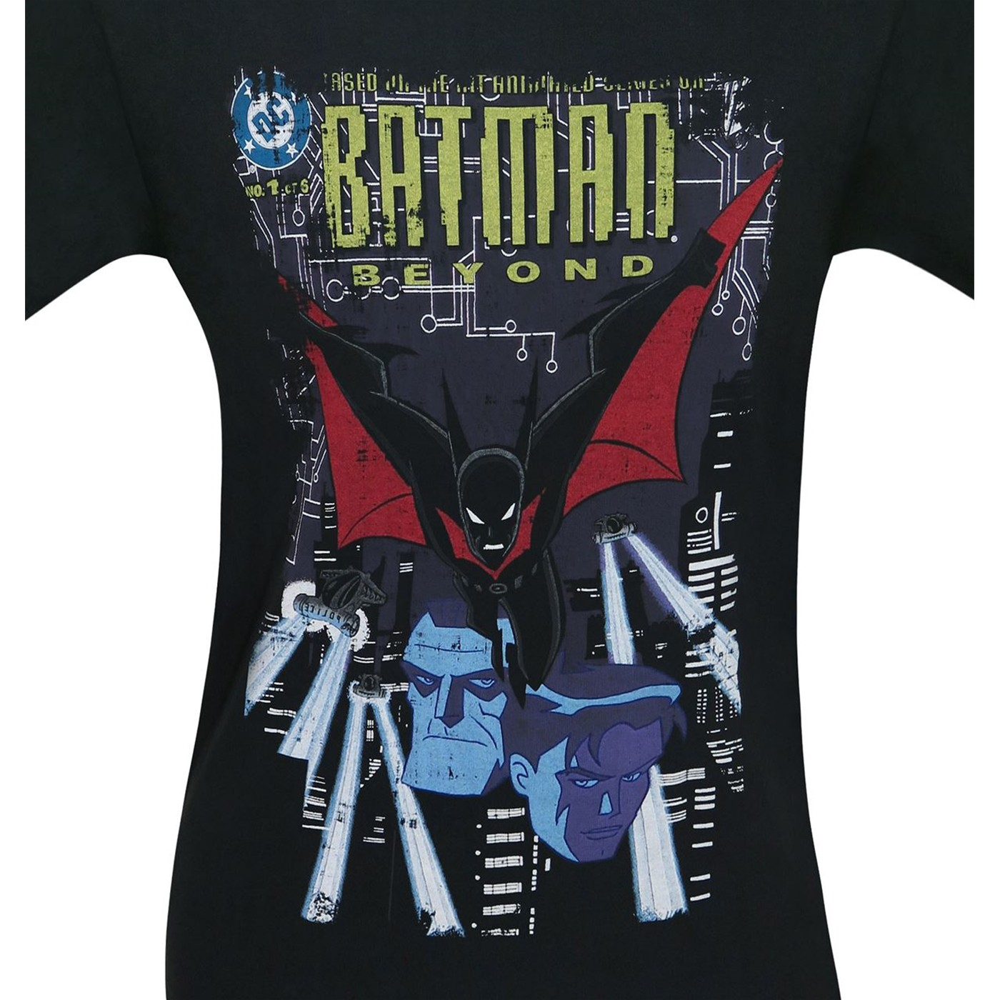 Batman Beyond Distressed #1 Cover Men's T-Shirt
