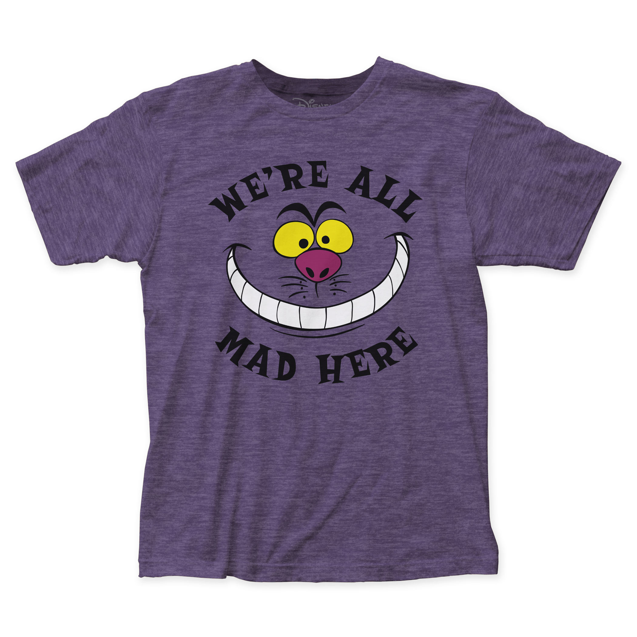 Alice In Wonderland We're All Mad Here Men's Purple T-Shirt