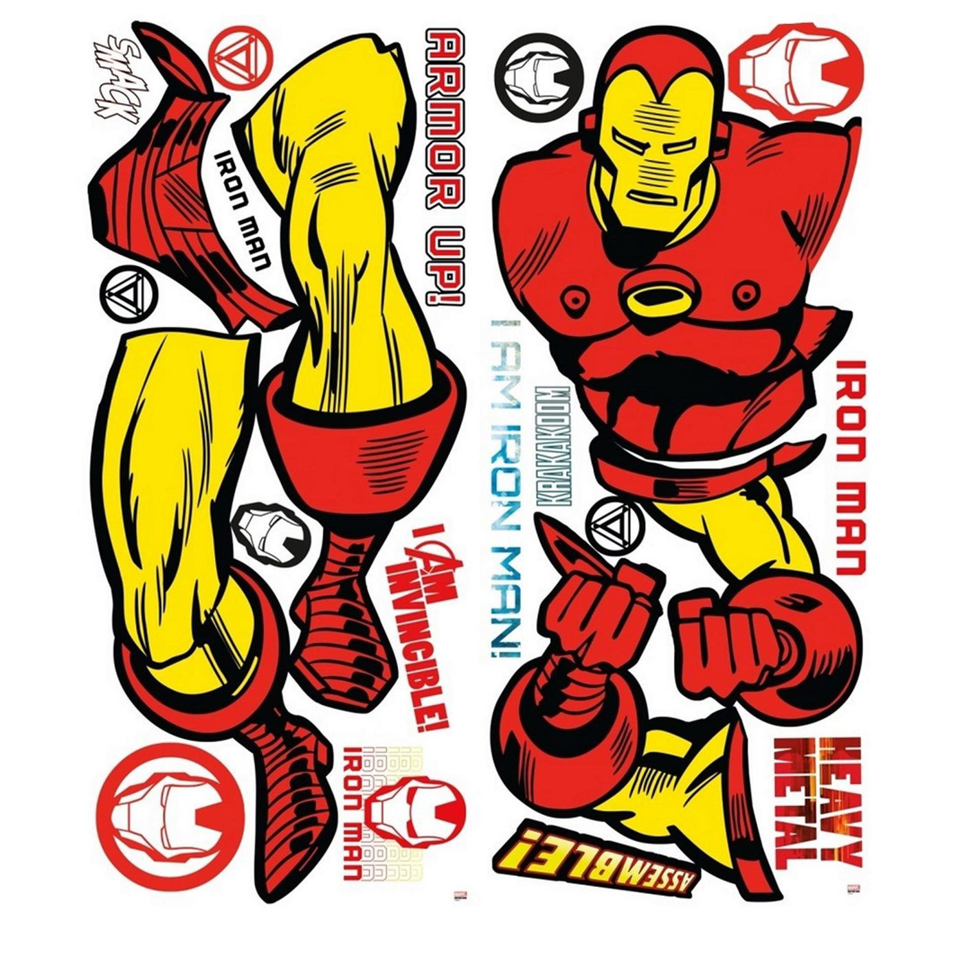 Iron Man Classic Giant Wall Decal