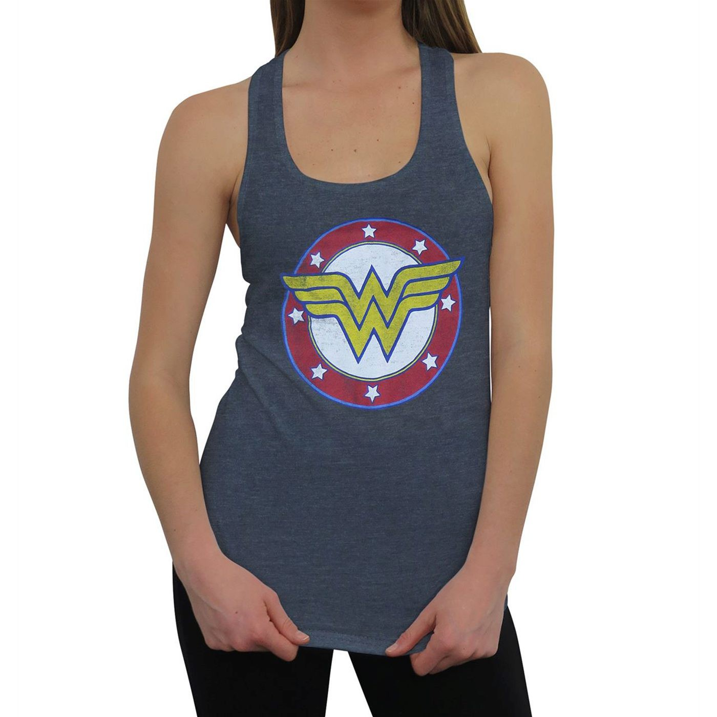 Wonder Woman Symbol  and  Stars Women's Tank Top