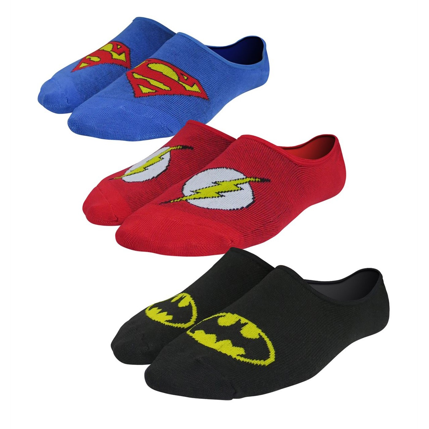 Justice League Symbols Shorty Socks 3-Pack