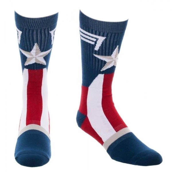 Captain America Suit-Up Crew Socks