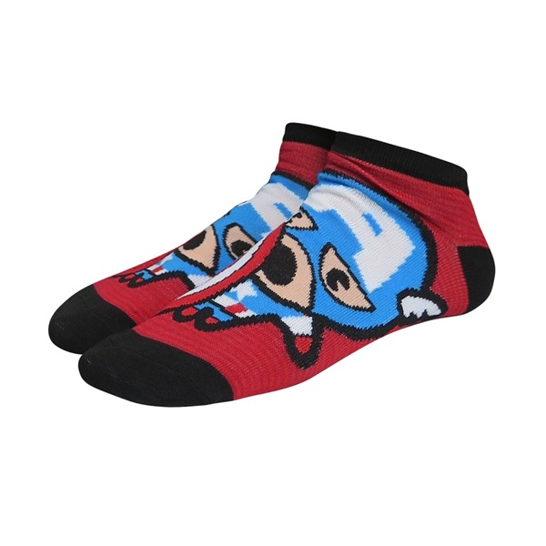 Captain America Kawaii Women's Low-Cut Sock 2 Pack