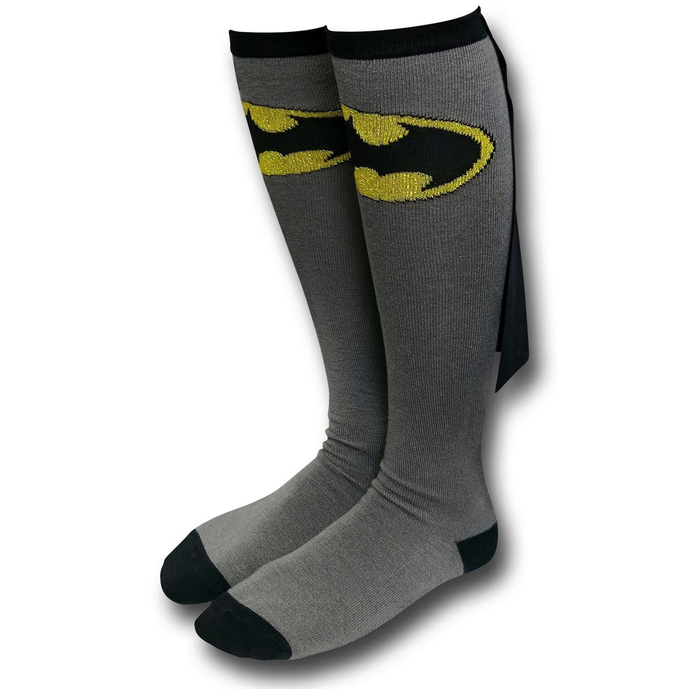 Batman Caped Women's Grey Knee-Highs Socks