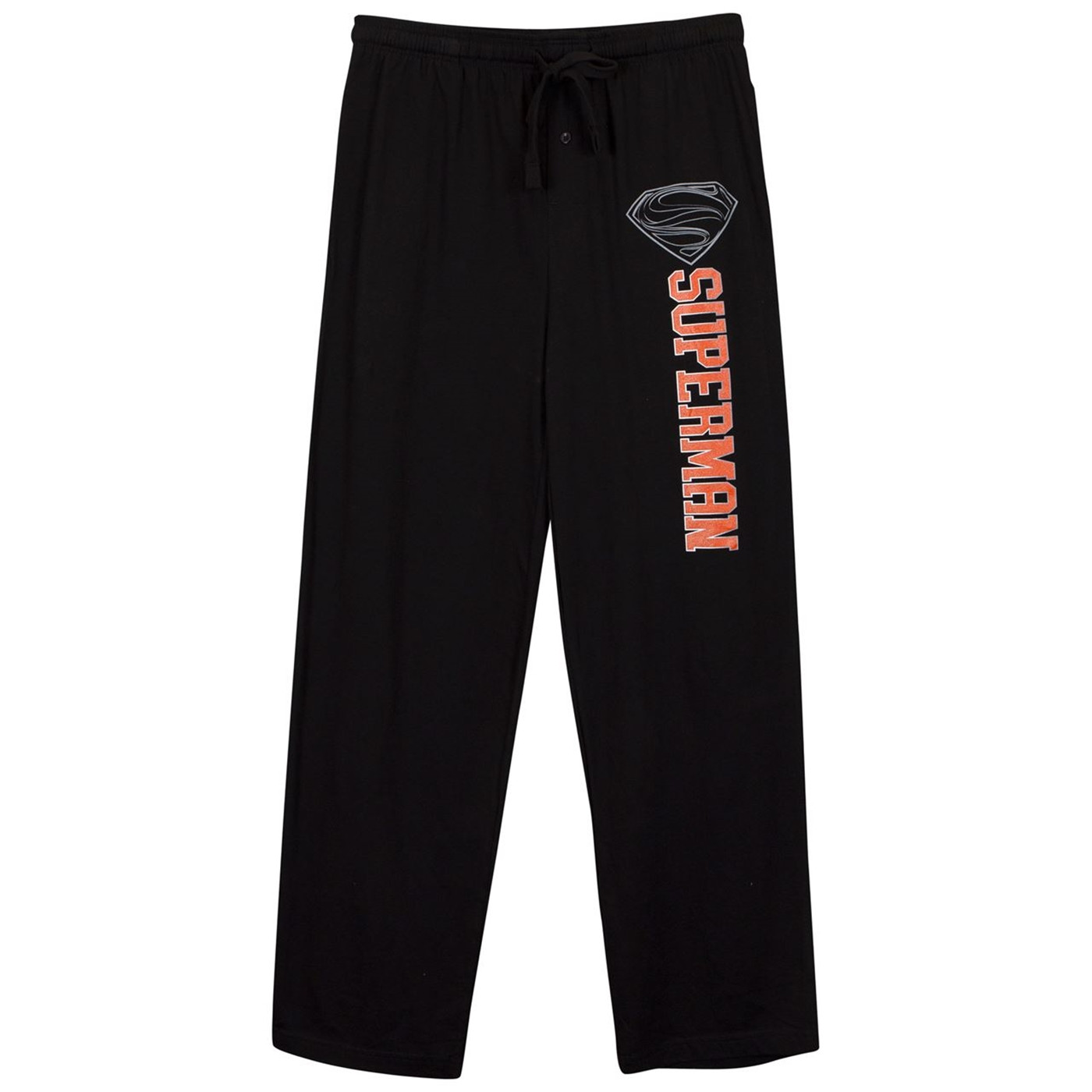 Superman Silver S Logo Black Unisex Sleep Pants