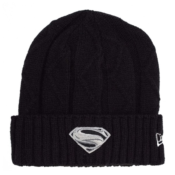 Superman Krypton Weave Silver Symbol Unisex Knit Beanie