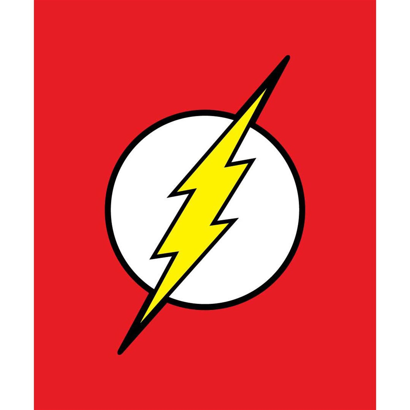 The Flash Symbol Queen Blanket