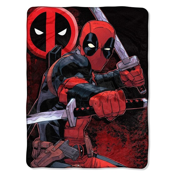 Deadpool Swordsman Tapestry Throw Blanket