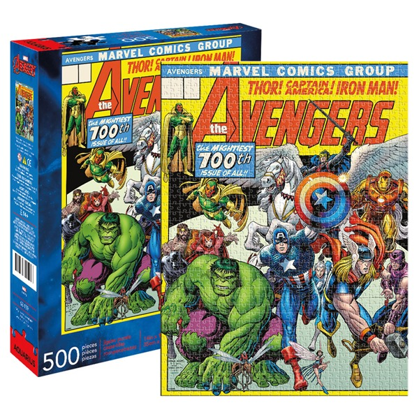 Avengers 100th Issue Comic Cover 500 Piece Puzzle