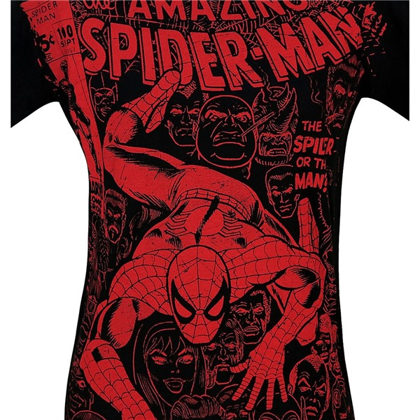 Spider-Man #100 Cover Black 30 Single T-Shirt