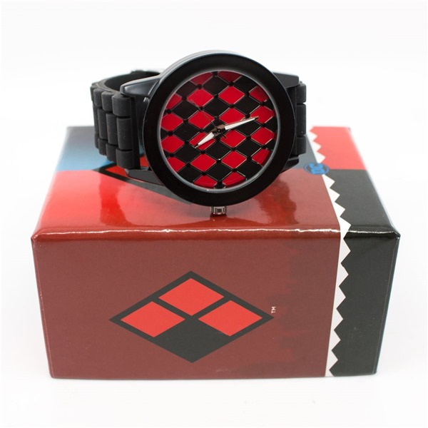 Harley Quinn Diamond Patter Watch with Rubber Band