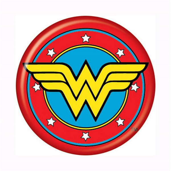 Wonder Woman Symbol Button