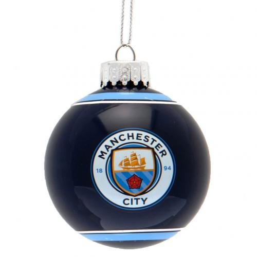 Manchester City F.C. Glass Bauble