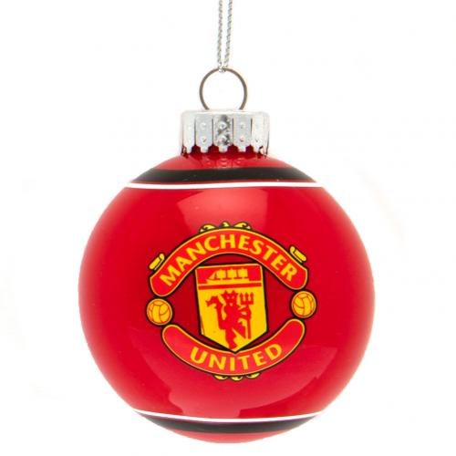 Manchester United F.C. Glass Bauble