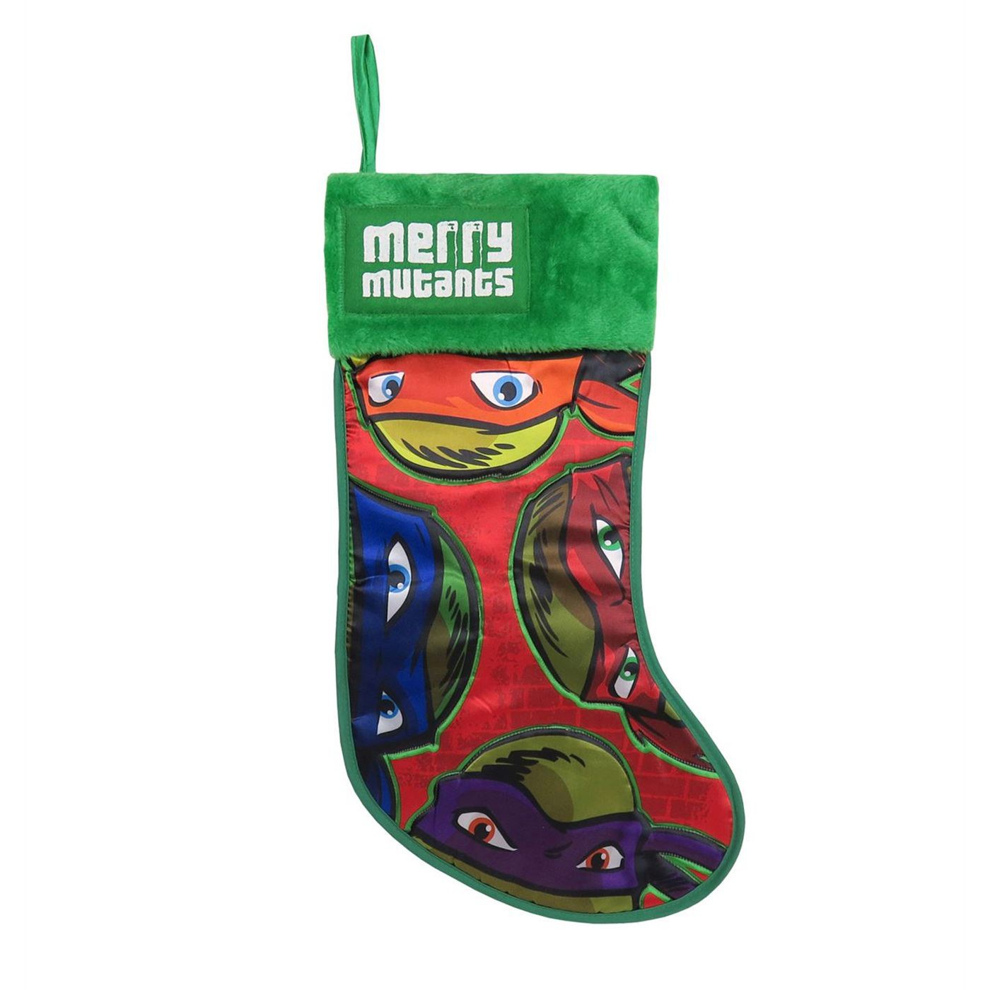 TMNT Faces Christmas Stocking