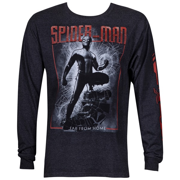 Spider-Man Far From Home Long Sleeve Shirt with Sleeve Print