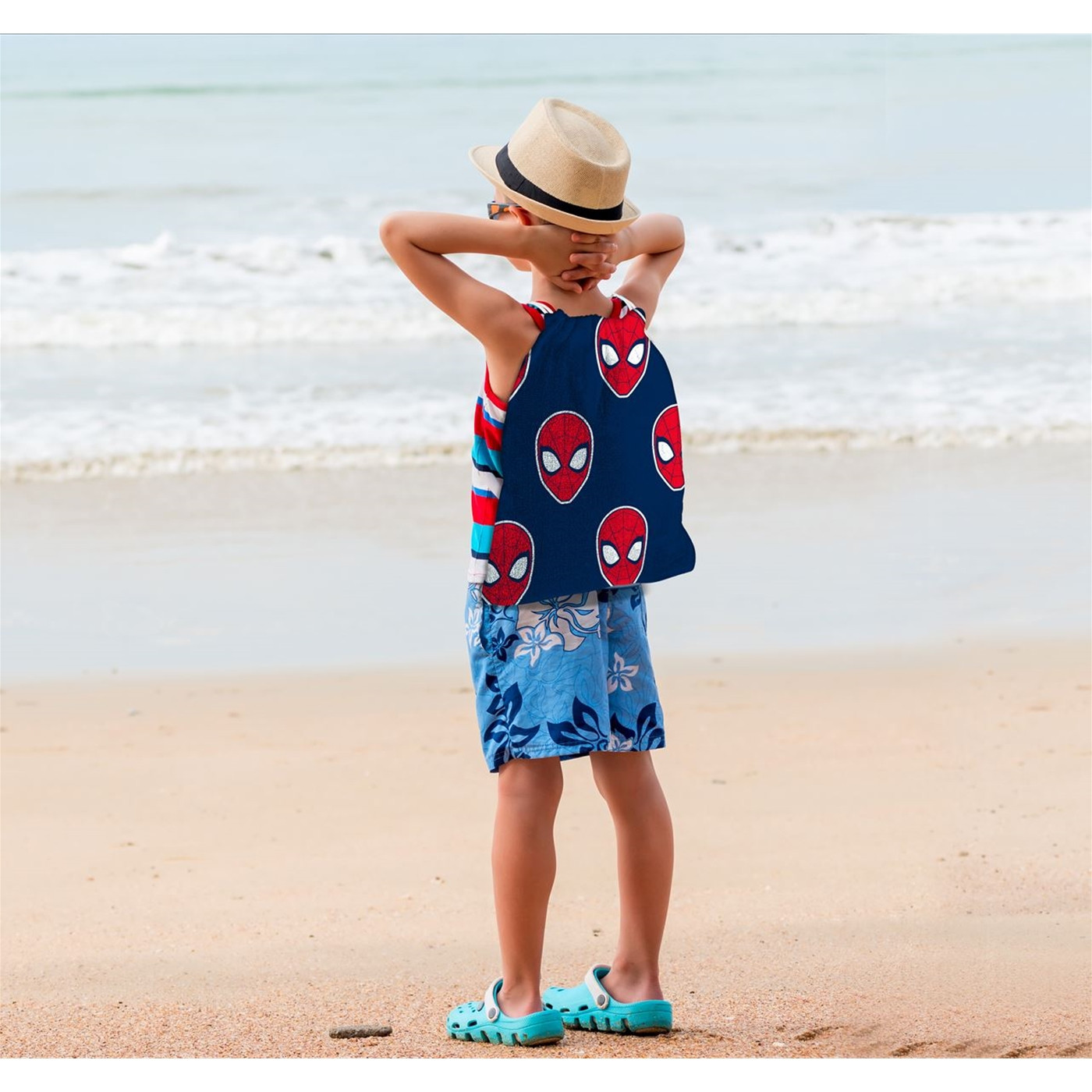 Spider-Man Beach Towel with Backpack