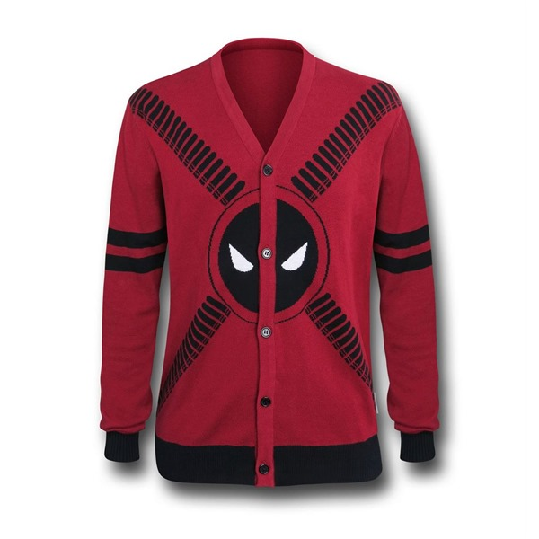 Deadpool Symbol and Straps Men's Cardigan